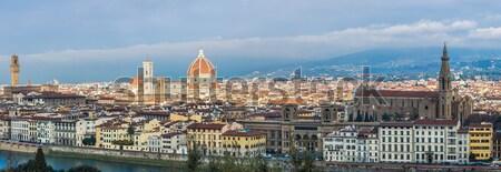 Gyönyörű panoráma Florence Toszkána Olaszország sziluett Stock fotó © bloodua