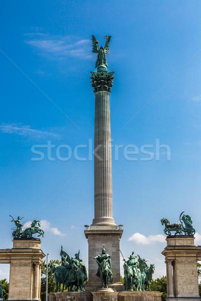 英雄たち 広場 ブダペスト 専用の ハンガリー語 空 ストックフォト © bloodua