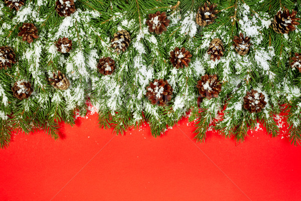 クリスマス フレームワーク はがき 雪 孤立した 赤 ストックフォト © bloodua