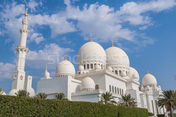 Абу-Даби белый мечети город Объединенные Арабские Эмираты небе Сток-фото © bloodua