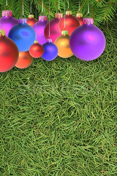 Natale abete rosso texture shot studio natura Foto d'archivio © bloodua