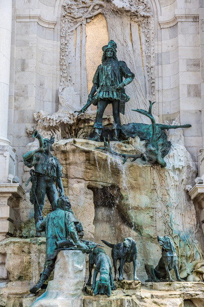 Hunting statue at the Royal palace, Budapest Stock photo © bloodua