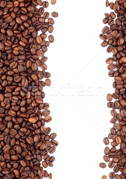 Marrom grãos de café isolado branco café Foto stock © bloodua