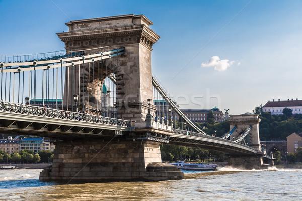 Stock photo: The Szechenyi Chain Bridge is a beautiful, decorative suspension