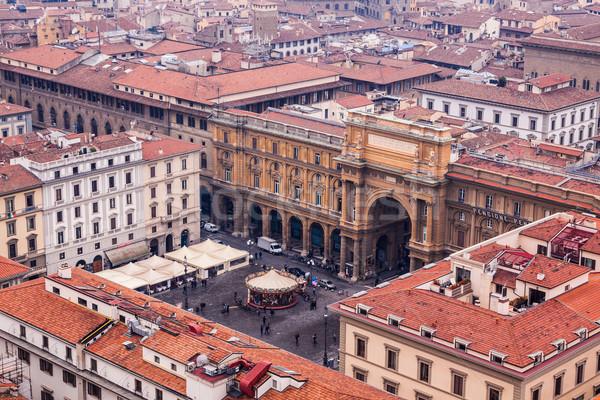 Флоренция Cityscape Италия небе здании город Сток-фото © bloodua