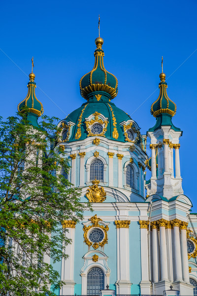 St. Andrew's church in Kyiv, Ukraine Stock photo © bloodua
