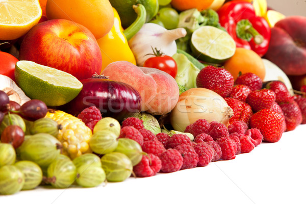Huge group of fresh vegetables and fruits Stock photo © bloodua