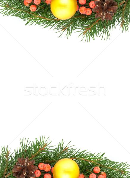 Рождества зеленый изолированный белый дерево Сток-фото © bloodua