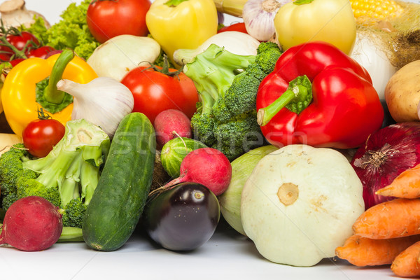 Group of fresh vegetables isolated on white Stock photo © bloodua