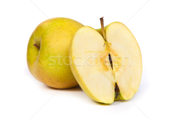 Cross section of green apple, showing pips, and core Stock photo © bloodua