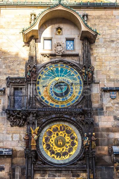 Sterrenkundig klok Praag Tsjechische Republiek stad teken Stockfoto © bloodua