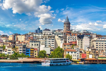 Golden Horn and the historic Galata area attracts tourists from  Stock photo © bloodua