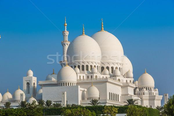 Mosquée Abu Dhabi ville unité Moyen-Orient Émirats arabes unis Photo stock © bloodua