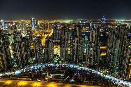 Dubai şehir merkezinde şehir ışıkları 13 Stok fotoğraf © bloodua