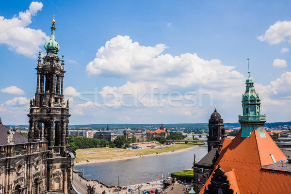 Huge panorama of Dresden, Germany Stock photo © bloodua
