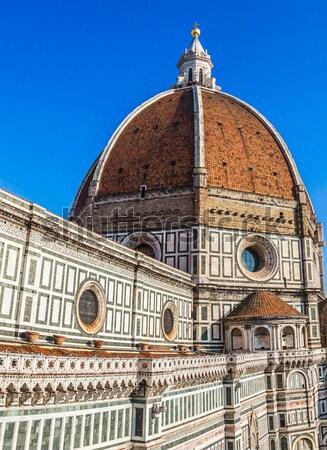 Stock fotó: Katedrális · mikulás · Florence · Olaszország · tető · kilátás