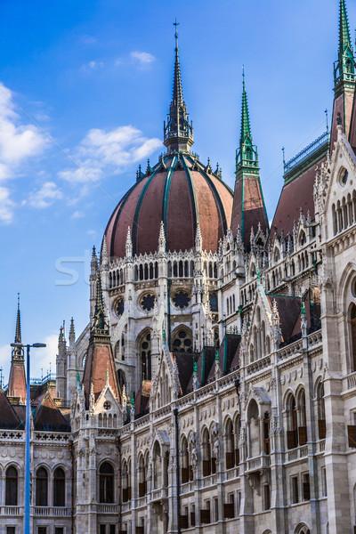 Edifício parlamento Budapeste Hungria húngaro rio Foto stock © bloodua