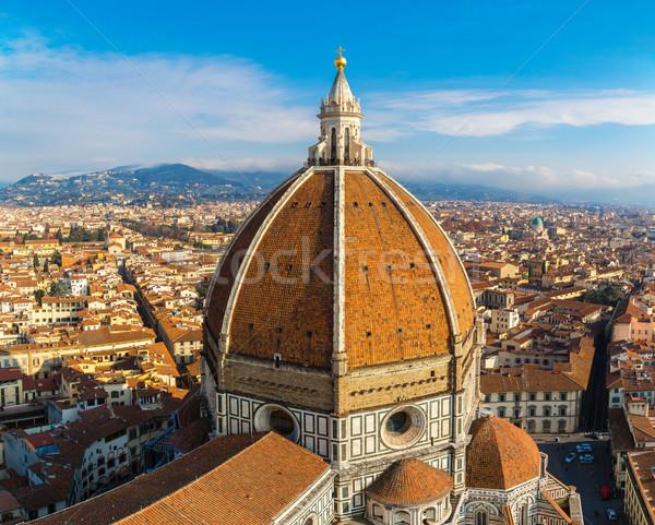 Katedrális mikulás Florence Olaszország tető kilátás Stock fotó © bloodua