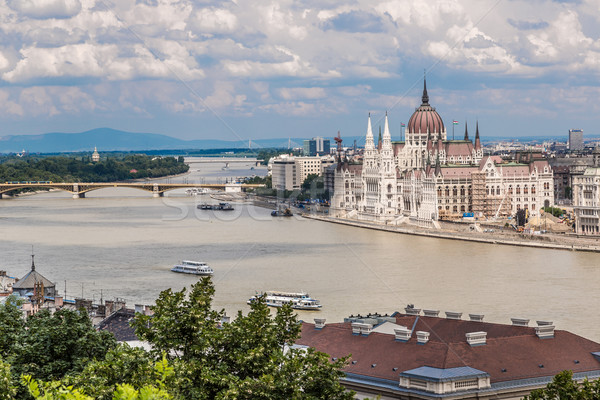 Stock photo: The building of the Parliament in Budapest, Hungary