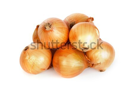 Stock photo: Group of a onions, isolated on white
