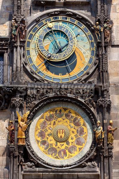 астрономический часы Прага Чешская республика лице город Сток-фото © bloodua