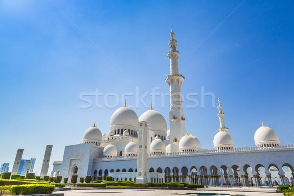 мечети Абу-Даби город блок Ближнем Востоке Объединенные Арабские Эмираты Сток-фото © bloodua