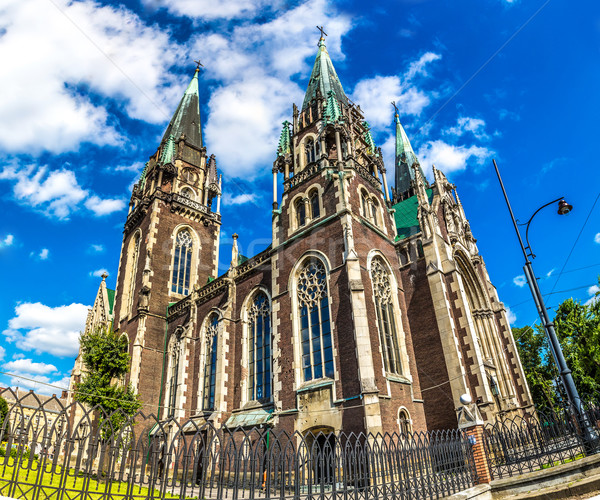Architectural landmark - Church of St. Olha and Elizabeth in Lvo Stock photo © bloodua