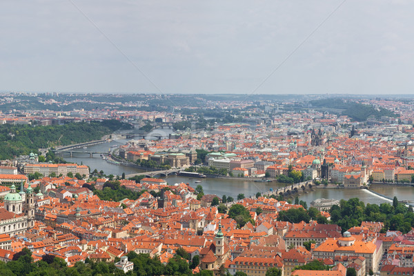 Huge 360 panorama of Prague Stock photo © bloodua