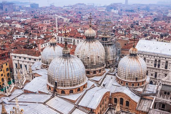 Katedrális tér Velence Olaszország éjszaka templom Stock fotó © bloodua