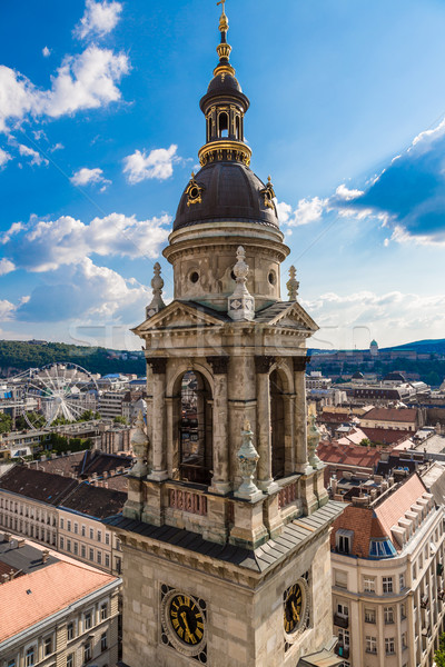 Aerial view at Budapest from the top of St Stephen Basilica Stock photo © bloodua