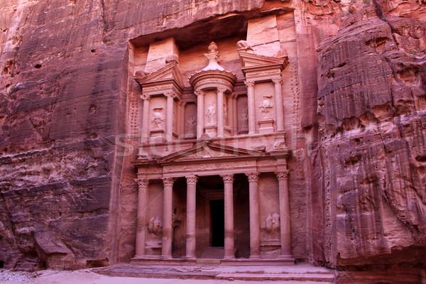 ヨルダン 古代 市 芸術 赤 アーキテクチャ ストックフォト © bloodua