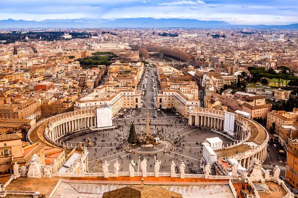 Rzym Włochy słynny święty placu watykan Zdjęcia stock © bloodua