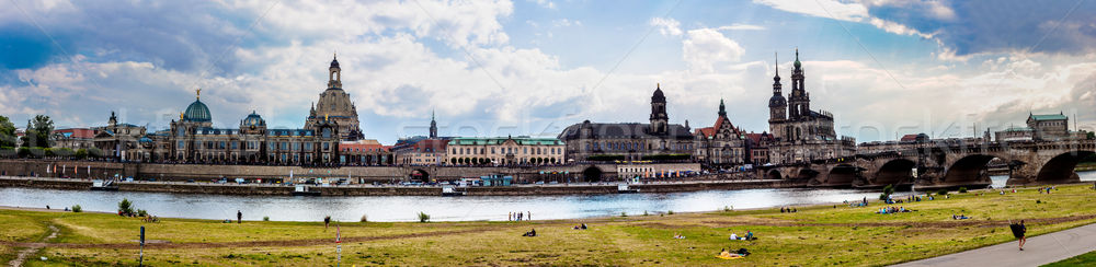 Huge panorama of Dresden, Germany. Cityscape. Skyline Stock photo © bloodua