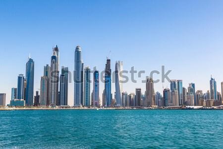 Dubai belváros Egyesült Arab Emírségek építészet 14 nap Stock fotó © bloodua