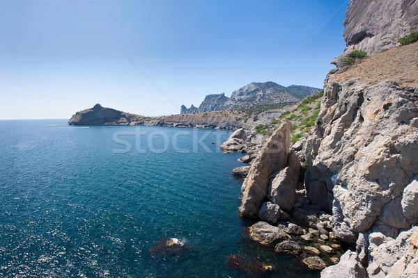 Verano vista playa negro mar Ucrania Foto stock © bloodua