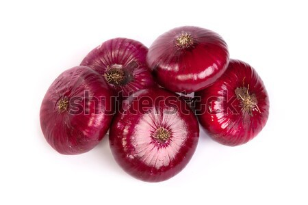 Group of a red onions, isolated on white Stock photo © bloodua