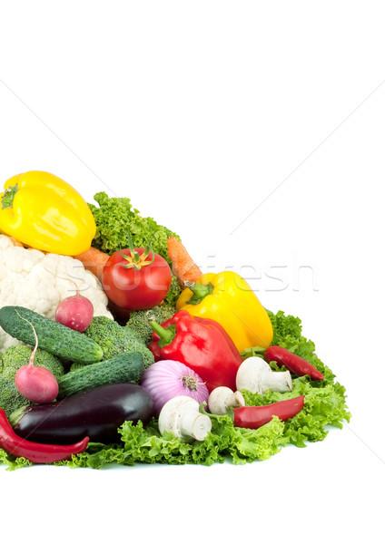 свежие овощи изолированный белый продовольствие лист цвета Сток-фото © bloodua