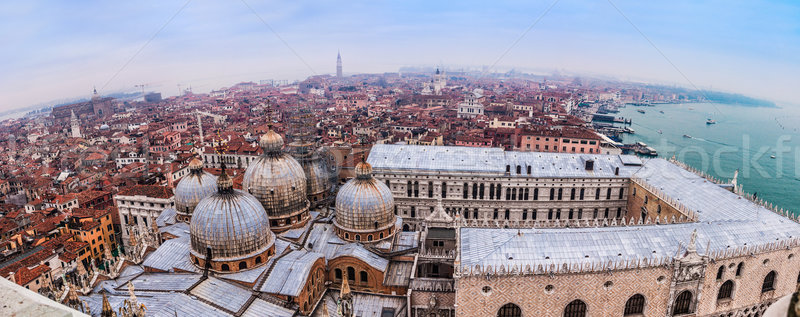 St. Marks Cathedral and square in Venice, Italy. Night. Church Stock photo © bloodua