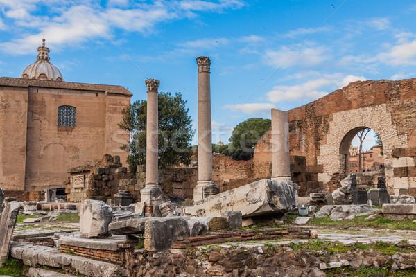 римской руин Рим антикварная Blue Sky день Сток-фото © bloodua