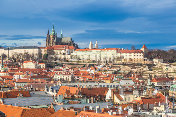 The View on Prague gothic Castle with Charles Bridge Stock photo © bloodua