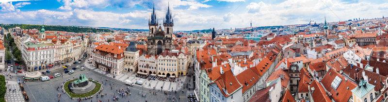 Praga barrio antiguo cuadrados turistas 2013 histórico Foto stock © bloodua
