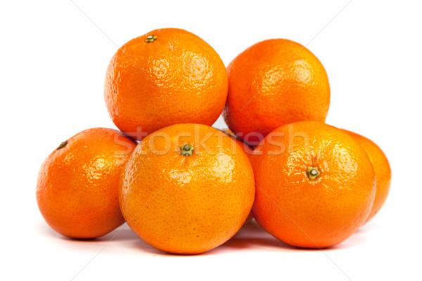 Groupe mandarin tranches blanche Photo stock © bloodua