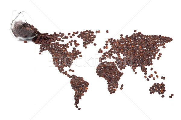 Coffee map Stock photo © bloodua