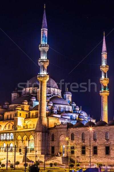 Mecset Isztambul Törökország megvilágosodás egyezség ramadán Stock fotó © bloodua