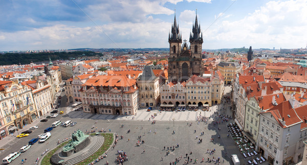 Stock photo: Prague city. Panorama