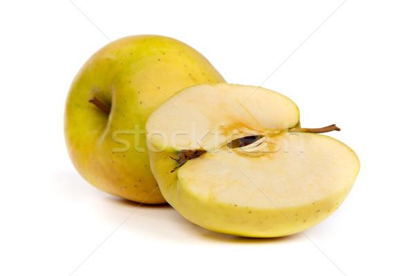 Seção transversal verde maçã núcleo isolado Foto stock © bloodua