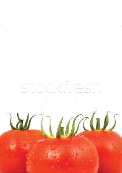 Three red tomatos isolated on white background Stock photo © bloodua