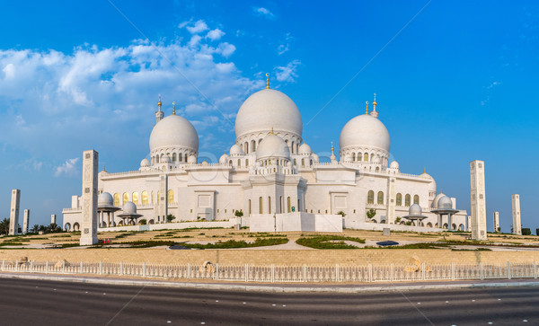 Mezquita Oriente Medio Emiratos Árabes Unidos Abu Dhabi ciudad cielo Foto stock © bloodua