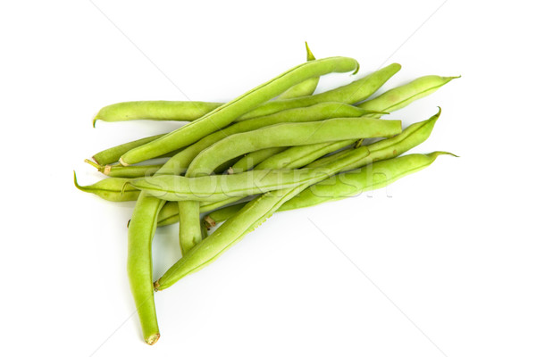 Bos vers groene bonen witte geïsoleerd eten Stockfoto © bloodua