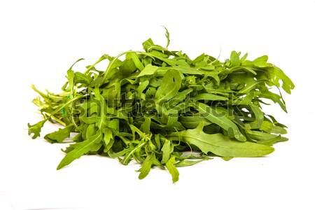 Arugula/rucola  fresh heap leaf on white Stock photo © bloodua